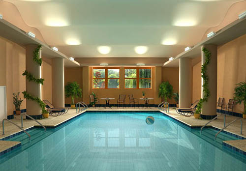 luxury and modern private indoor swimming pool