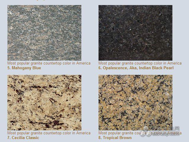 Most Popular Granite Countertop Colors In America Are As Following